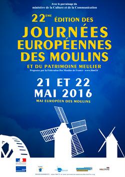 Journées Européennes des Moulins – 21 et 22 mai 2016